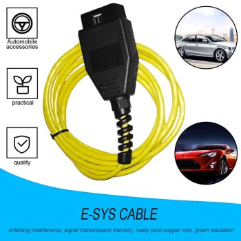 Newest For BMW ENET Interface Cable E-SYS ICOM Coding F-series For BMW Diagnostic Scanner OBD2 ENET Data Connector With Software image