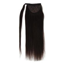 "Vlasy 12"" 16"" 20"" Ponytail Machine Made Remy Hair Straight Strap Wrap Around Clip in Extensions Horsetail For Women"