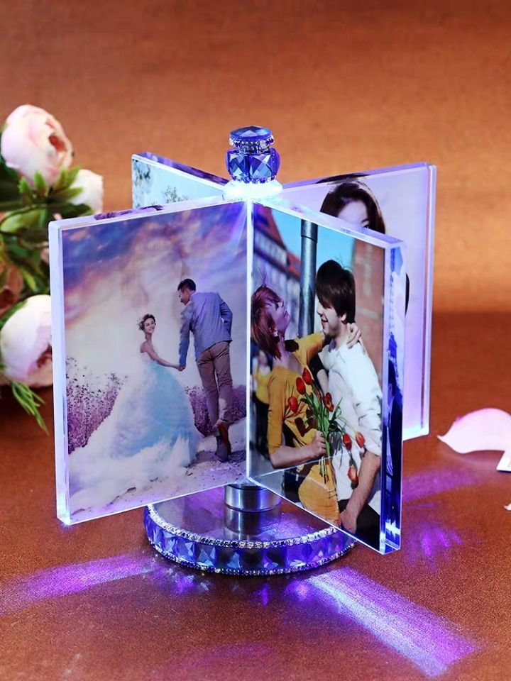 Personalized Photo Frame Custom Photo Frame with Light Girlfriend Gift Mother Gift Wife Gift Wedding Decor