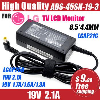 19V 2 1A 1 6A dla LG Monitor LCD telewizor z dostępem do kanałów Adapter AC przewód zasilający 32LH510 LCAP21C LCAP25B ADS-45SN-19-3 E2251S E2251T E2051S tanie i dobre opinie NoEnName_Null 19 v Uniwersalny