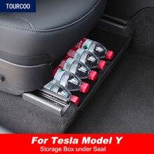 Lagerung Organizer Box Unter Sitz für Tesla Modell Y Auto Änderung Vordersitz Ordentlich Box 1pc