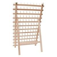 Складной деревянный держатель для резьбы, 120 шпули конусные катушки стенд, резьбовой органайзер, настенный держатель шпули, машина Sewin