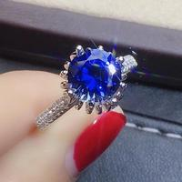 Blue sapphire ring 925 sterling silver Wedding Ring Fine handworked jewelry Finger rings