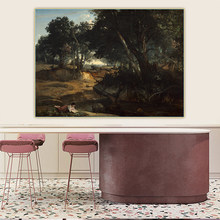 Holover Western Art Decor Poster Leinwand Öl Malerei Jean Baptiste Camille Corot