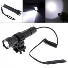 цена на 501B XM-L T6 LED 2000LM 5 Switch Modes Tactical Flashlight Suit with Mounting Clip for Drilling Camping Hunting Night Fishing