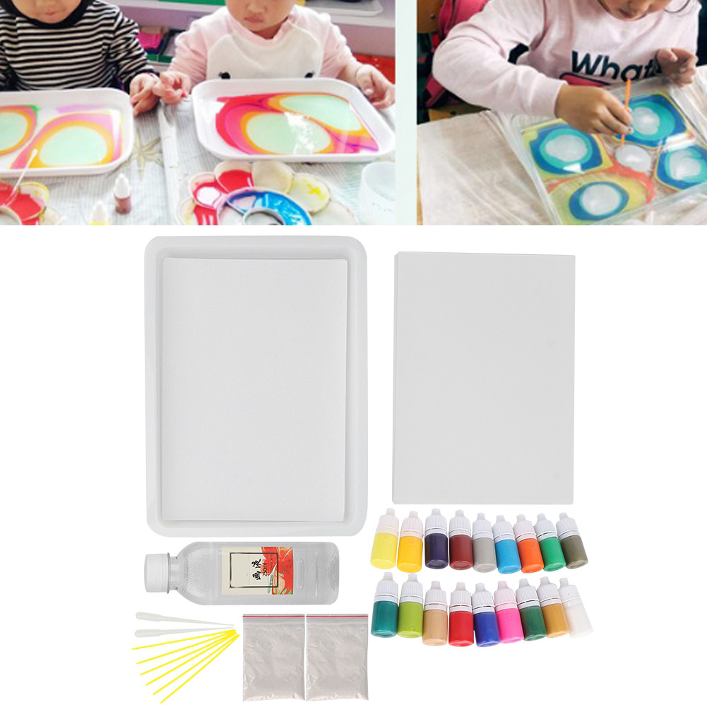 Water Marbling Mineral Pigment In PVC Bottle For Ebru Art Tool For Children(Random Color) игрушки Educational Drawing Toys