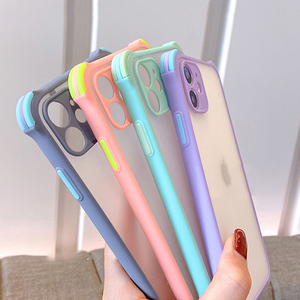Phone Case For Xiaomi Redmi Note 9 9S PRO MAX Simple Matte Transparent Shockproof Four-Corner Bumpet Soft Frame Clear PC Cover
