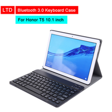 Bluetooth 3.0 Keyboard Case For Honor Tablet T5 10.1 inch Leather Flip Protective Keyboard Cover With Stand Holder Function цена 2017