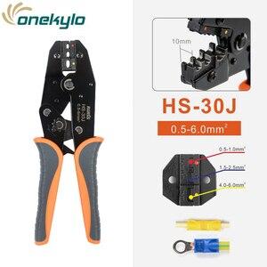 Image 2 - IWISS IWS 30J 0,5 6mm ² alicate crimpador de engaste Multi herramientas de mano aislamiento de anillo y terminales de pala herramienta de engaste de 9 pulgadas
