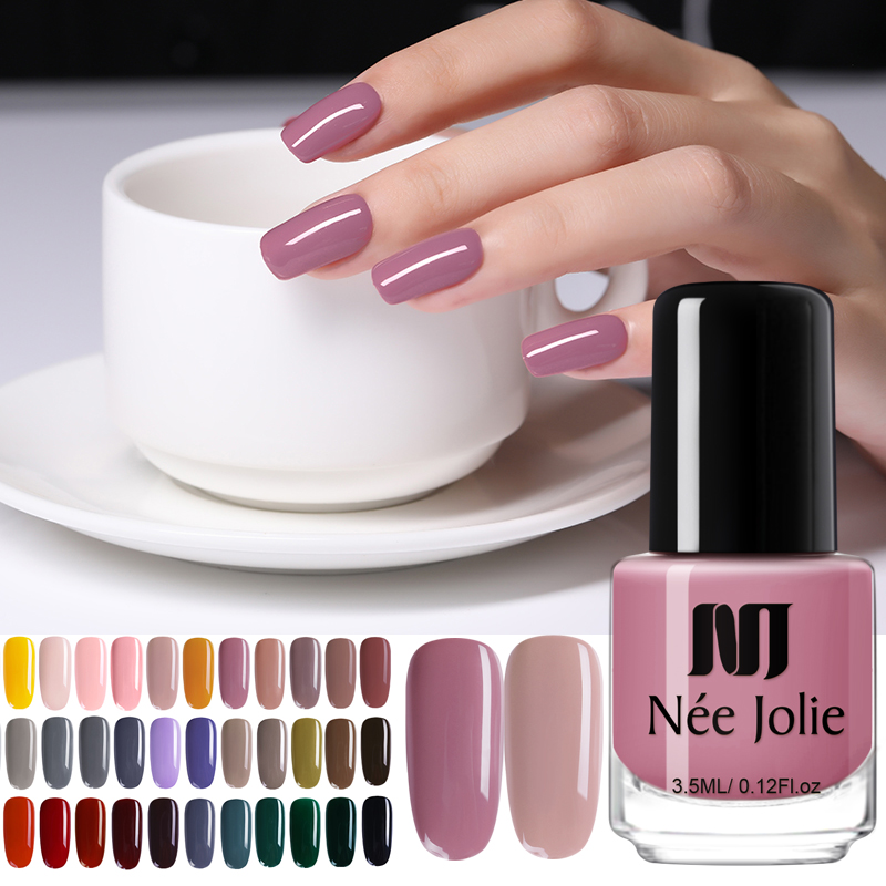 NEE JOLIE Nail Polish  Coffee Gray Red Series Nail Varnich  Nail Color Nail Art Polish Varnish Decoration 3.5ml