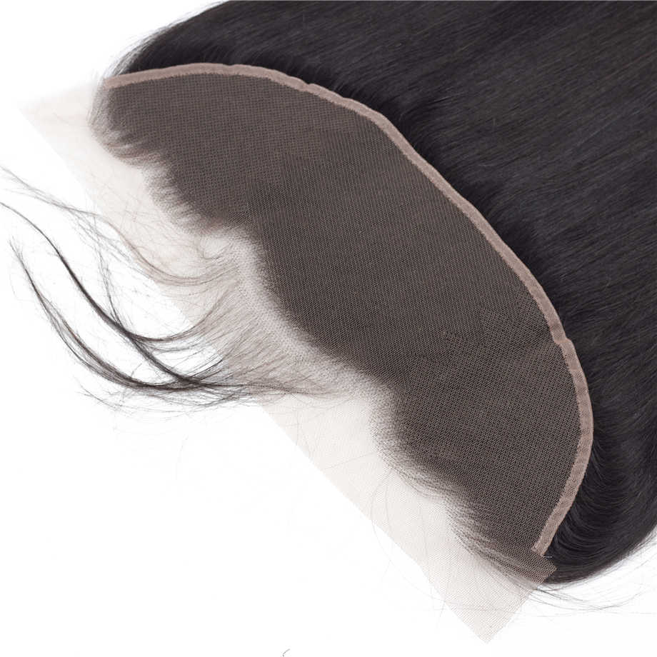 Brazilian 13x4 Lace Frontal Closure Straight Hand Tied Ear To Ear Lace Frontal Closure Remy Human Hair Clousre Piaoyi Hair