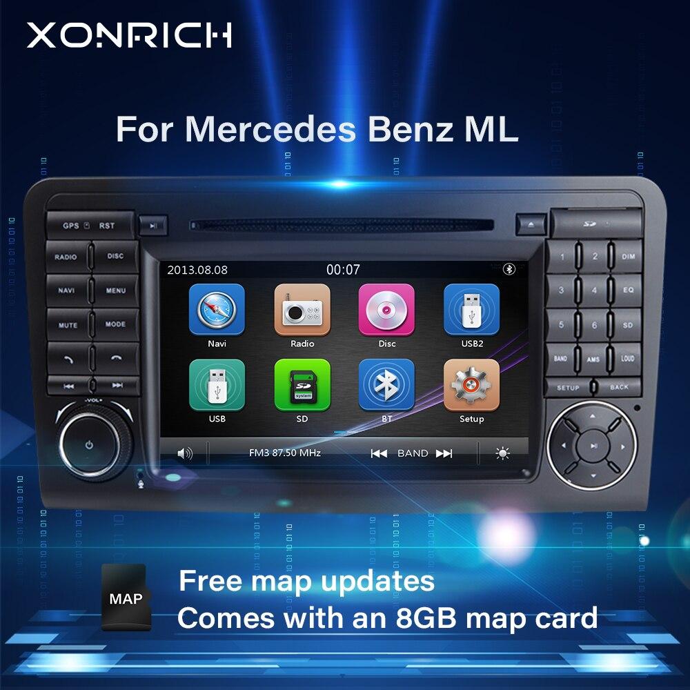 Автомагнитола 2 Din для Mercedes Benz ML W164 X164 GL ML350 ML500 GL320, мультимедийный Головной блок, GPS навигация, стерео 3G