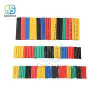 Conjunto de tubos de poliolefina de 164 Uds., surtidos, termorretráctiles, con aislamiento de Cable