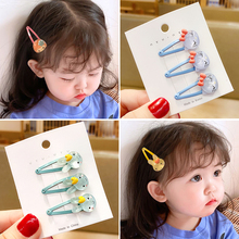 3 Pcs/Set Children Cute Candy Acrylic Hollow Cat Rabbit Ornament Hair Clips Girls Lovely Barrettes Hairpins Kid Hair Accessories