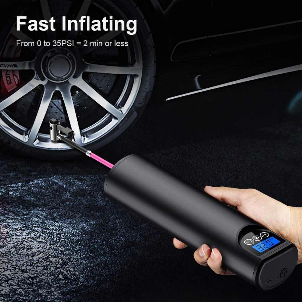 Pompe à Air Rechargeable sans fil 12V 150psi | Compresseur Portable, pompe numérique de pneus de voiture pour balles de pneus de bicyclette