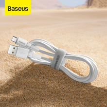 Baseus USB Type C Cable for Xiaomi Redmi Note 9s 8 Pro Micro USB Cable Fast Charging Cable Nylon Charger USB Dara Cable Cord