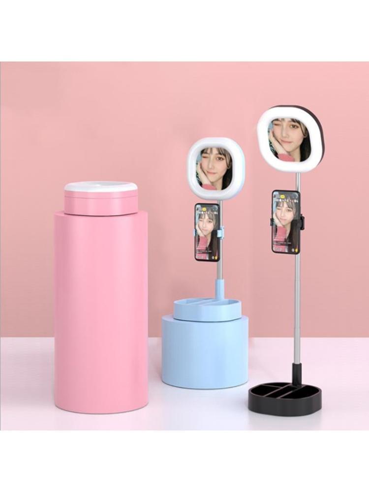 Telescopic Foldable Support LED Lamp with Cellphone Holder Selfie Fill Light