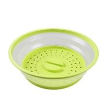 Нескользящий чехол для микроволновой печи Многофункциональный двойного назначения складной мытье овощей умывальник кухонный инвентарь кухонная посуда zh1