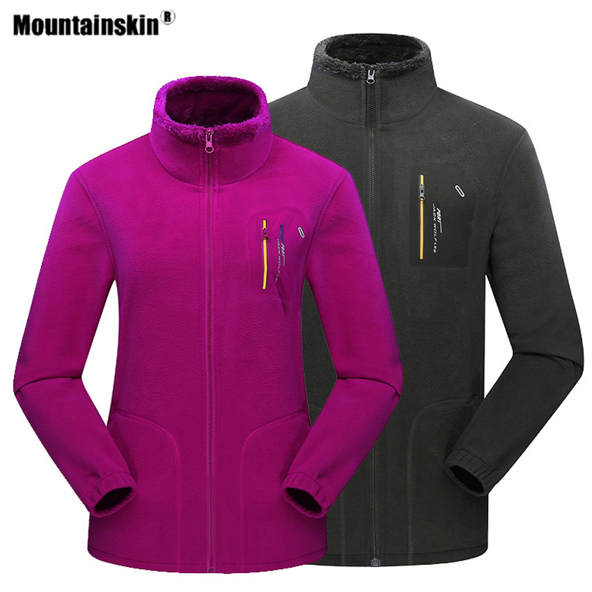 Mountainskin Men Women Winter Fleece Hiking Outdoor Sport Jacket Camping Thick Thermal Trekking  Male Skiing Climbing Coat VA472