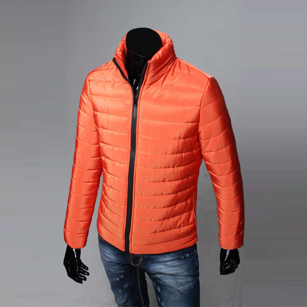 남성 코트와 재킷 겨울 남학생 남성 따뜻한 스탠드 칼라 슬림 겨울 지퍼 코트 아웃웨어 자켓 남성용 스포츠 용 재킷