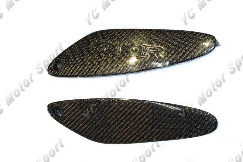 Car Accessories Carbon Fiber Rear Spoiler End Cap 2PCS Fit For 1995-1998 R33 GTR Rear Spoiler without 'GTR' Logo End Caps