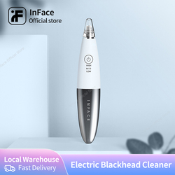 Inface In Stock Blackhead Removal Instrument Electric Deep Cleaning Facial Skin Care For Man And Women
