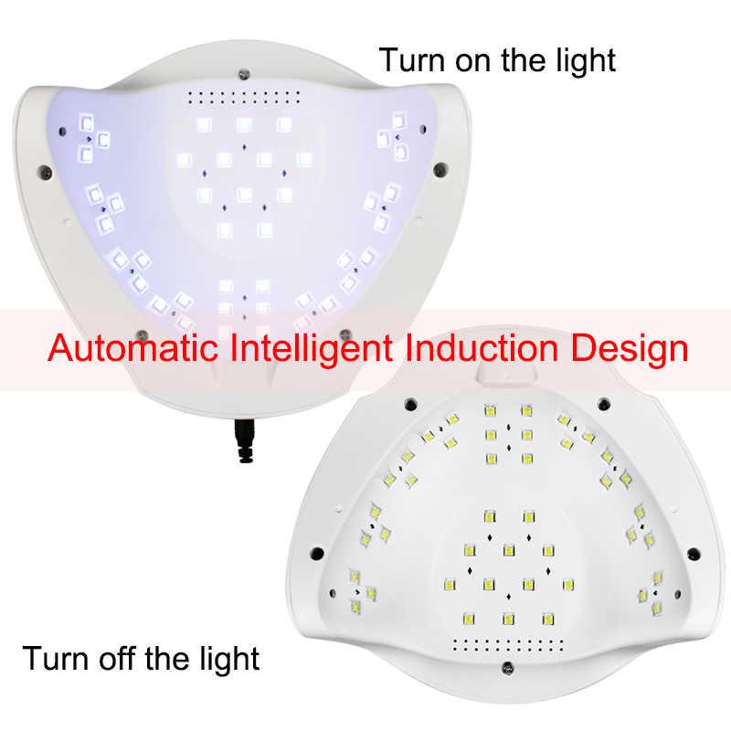 84/54/24W Pro UV lampe lampe LED pour ongles sèche-ongles pour tous les Gels vernis soleil lumière infrarouge détection 10/30/60s minuterie intelligente pour manucure