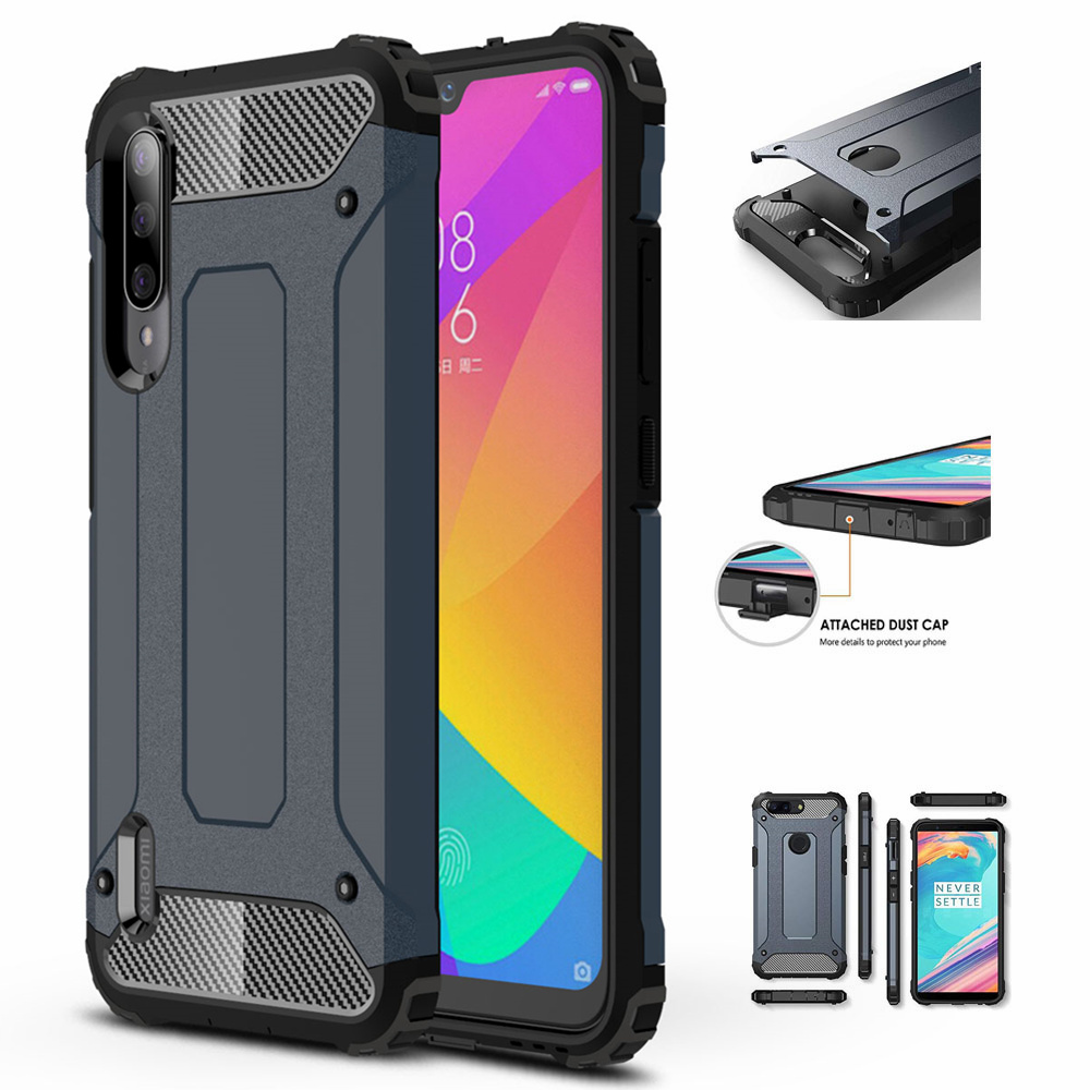 For <font><b>Xiaomi</b></font> <font><b>Mi</b></font> CC9E / <font><b>A3</b></font> Case Dual Layer Armor Shockproof Hard Rugged Cover For <font><b>Mi</b></font> CC9 / <font><b>Mi</b></font> <font><b>A3</b></font> Lite Hybrid PC Silicone Coque image