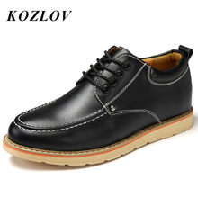 Men Derby Shoes Casual Genuine Leather Winter Warm Fur Mens Work Tooling Shoes Luxury Brand Lace Up Moccasins For Men Loafers(China)