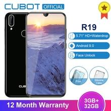 Cubot R19 Android 9.0 19:9 3GB 32GB Quad Core Fingerprint Smartphone Water Drop Screen Dual Back Cam