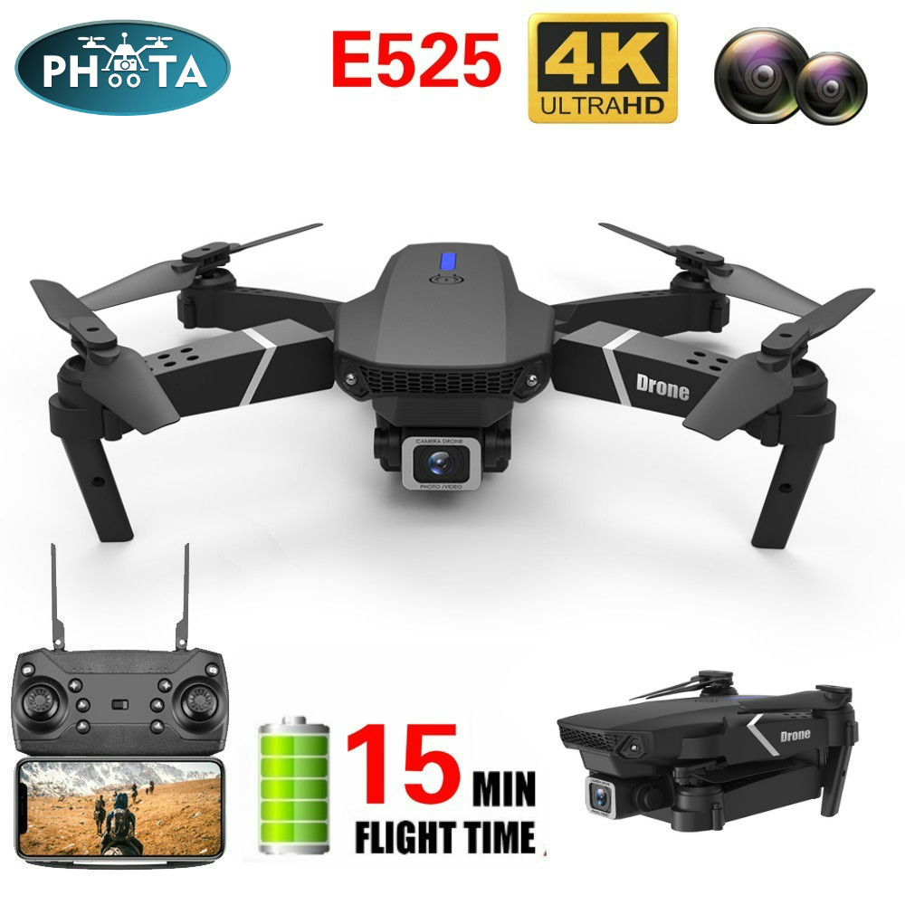 E525 RC drone with camera 4k 1080P DUAL Camera quadcopter selfie drones WIFI FPV Height Hold RC Foldable dron  wide-angle VS E58