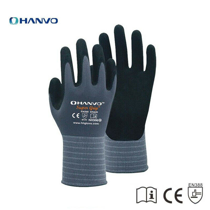 Nitrile Safety Coating Work Gloves Palm Coated Gloves Mechanic Working Gloves NX506