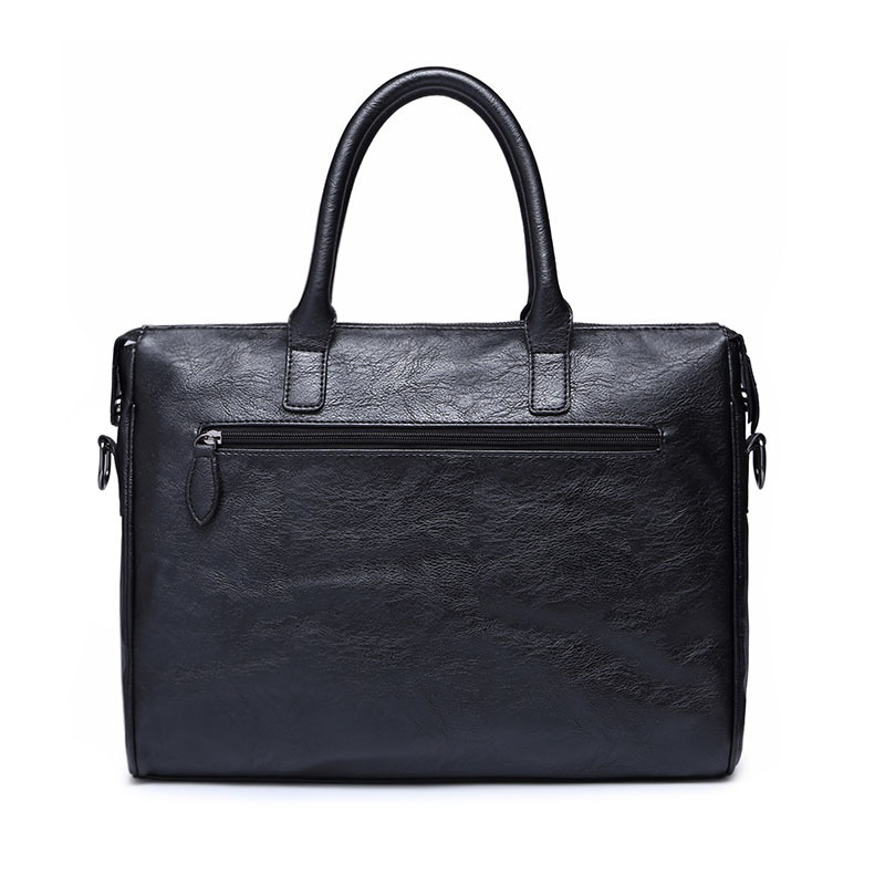 Image 2 - Scione Men's Leather Briefcase bag New Portable Business Bag For Men Office Laptop Messenger bag Leather Tote bagBriefcases   -