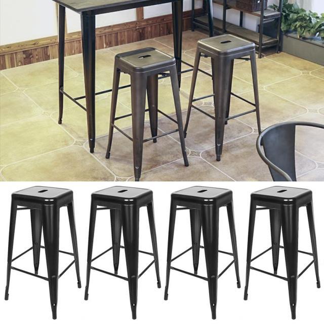 2Pcs/Set Stackable Bar Stools Bar Chairs Minimalist Beauty Dining Chair High Stool Restaurant Cafe Stool Bar Home Decor HWC