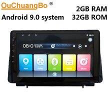 Rádio multimídia do jogador de ouchuangbo para o foco km4 2019 com navegação 2 gb ram 32 gb de android 9.0 gps rom