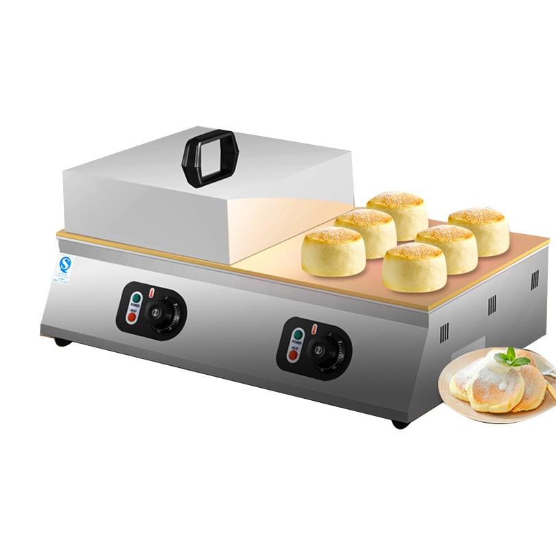 Electric 110V 220V Souffler Machine Non-stick Waffle Cakes Fluffy Japanese Souffle Pancakes Maker Souffler Muffin Baker