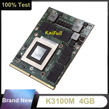 Novo quadro k3100m k3100 gddr5 4gb placa gráfica de vídeo N15E-Q1-A2 com x-bracket para dell m6700 m6800 hp 8740w 8760w