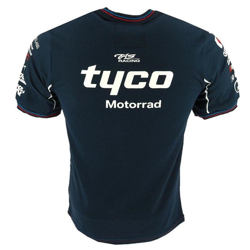 2018 Tyco футболка гоночной команды для BMW мужские короткие мотоциклетные футболки TAS Motorrad Мотоцикл Мотокросс Спортивная футболка moto gp