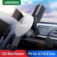 Ugreen suporte de montagem do telefone do carro para o telefone no slot de cd do carro suporte de telefone do carro para o iphone xs max x 8 7 suporte do telefone móvel