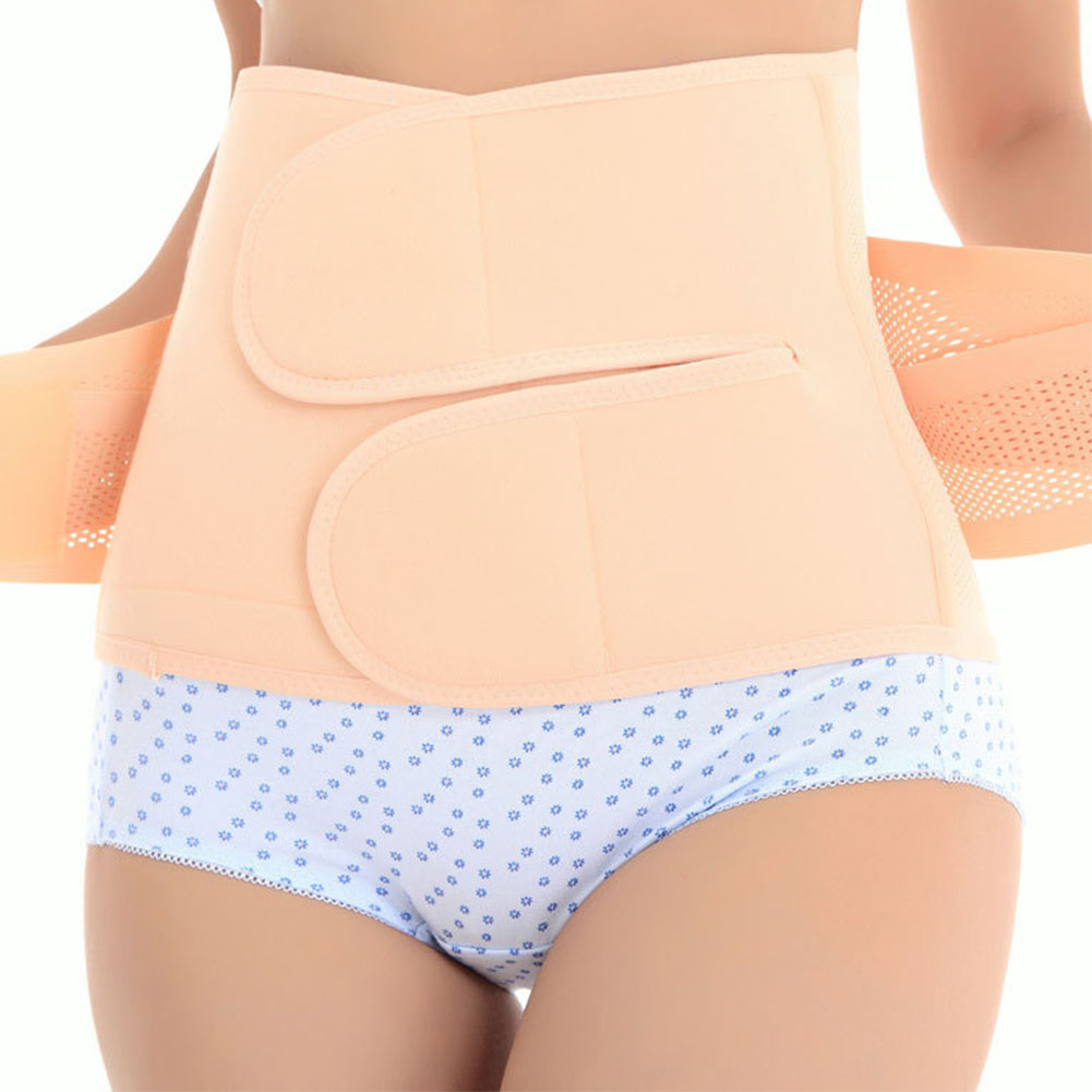 Women Postpartum Wrap Belly Band Recovery Elasticity Slim Waist Corset Adjustable Bodybuilding Belt Girdle