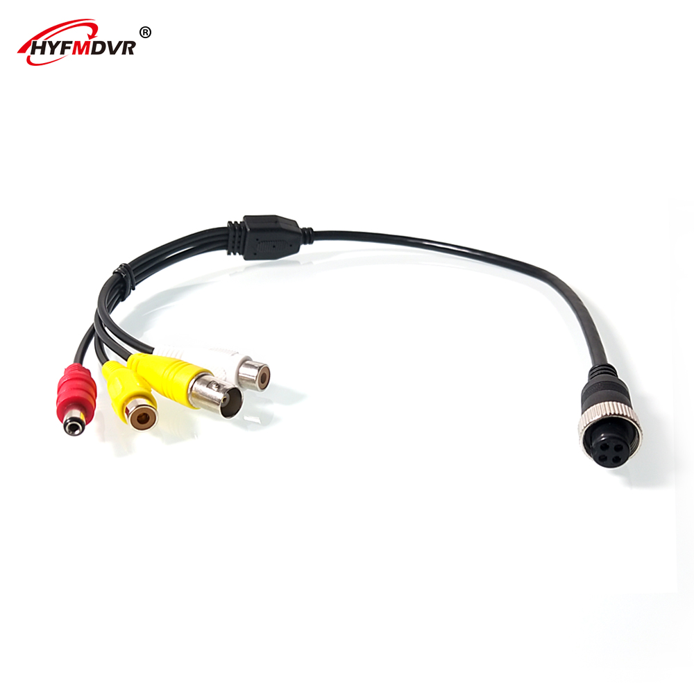 LSZ 4 Core Monitoring Conversion Line Aviation Female Head Turn AV Video AV Audio Car Monitor Reversing Image Cable