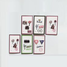 Kpop Blackpink Twice Got7 Exo Seventeen Brooch Around The Same Model Brooches Pins Lapel Pin Women Accessories Wholesale New(China)