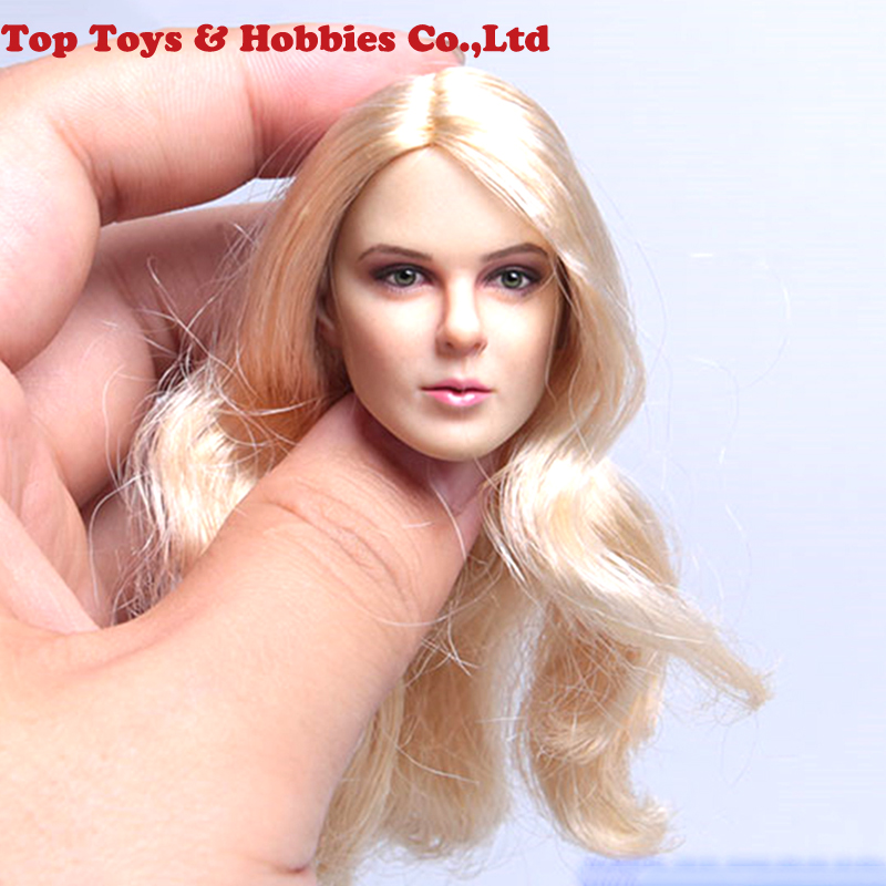 KIMI TOYS 1//6 Female Head Carved KT011B Black Hair Head Model F 12/'/' TBleague PH