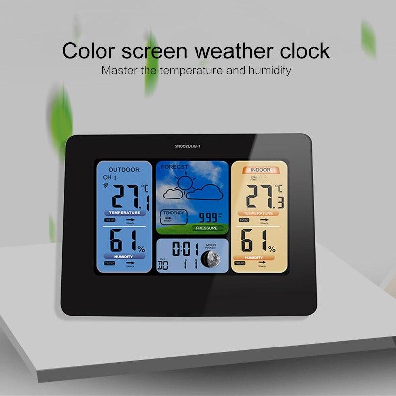 TS-E04 couleur écran météo prévision horloge Radio réveil multifonction électronique affichage de la température décoration horloge