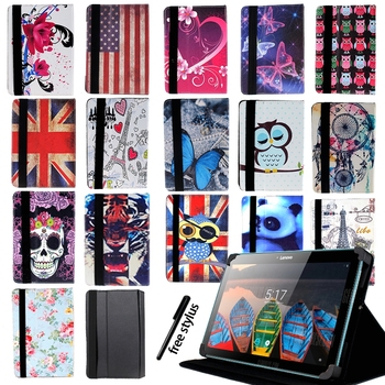 Drop Resistance Multicolor Tablet Adjustable Folding Stand Cover for 7 8 Lenovo Tab 2/tab 3/Tab 4 Tablet Protective Case witblue new inner exchange 3000mah 3 7v battery pack for 7 wexler tab a742 a740 a744 dexp ursus a370i tablet replacement