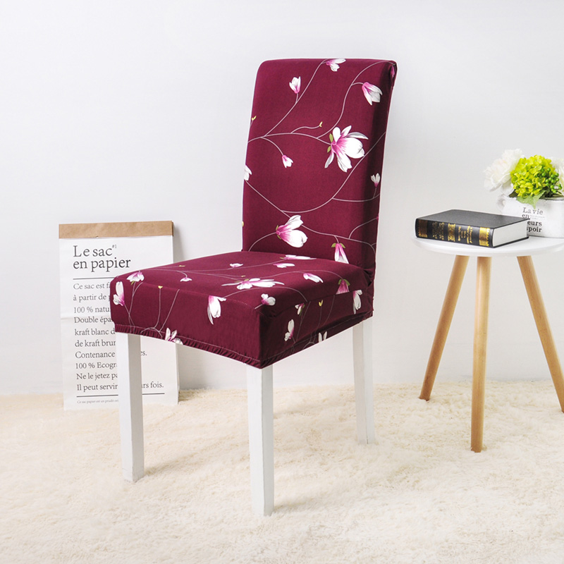 Wine Flower chair cover