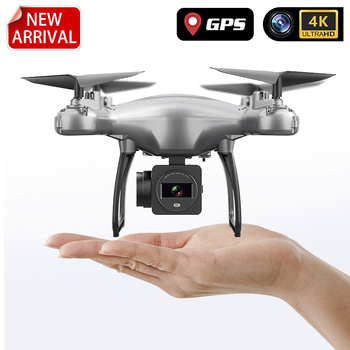 New Drone GPS 4K HD WIFI Live Video FPV Quadcopter Smart Return Profissional Mini Drone With Camera RC Helicopter Toys For Kids with an extra battery original zerotech dobby pocket selfie drone fpv with 4k hd camera gps mini rc quadcopter drone