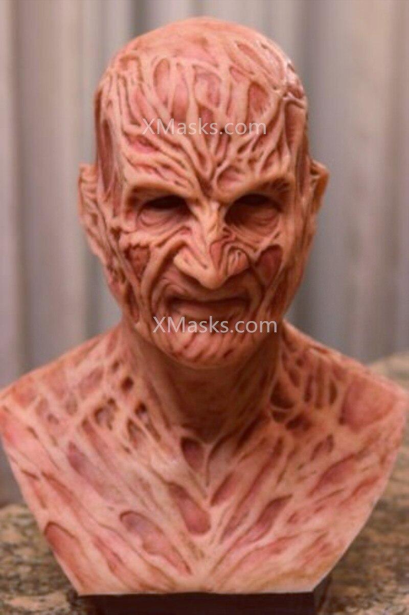Freddy Krueger Mask Latex Adult Party Costume Friday 13th Killers Jason Horror Slasher Scary Masks Larp Jason