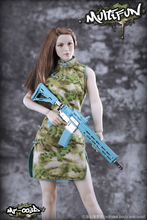 1/6 Camouflage Cheongsam Set for Female Seamless Large Mid Bust Body Figure Scale Sexy MULTIFUN Toy Gift