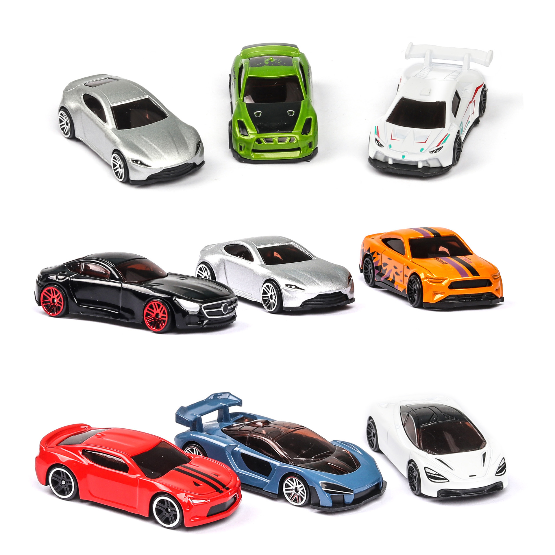5Pcs/Set Diecast Simulation 1:64 Mini Kids Toy Car Vehicle Sliding Alloy Sports Car Model Set Multi-style Gift Toys For Children